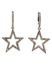 Rosa De La Cruz | Multicolor Diamond Star Drop Earrings | Lyst
