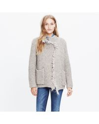 Madewell - Natural Fringe Open Cardigan Sweater - Lyst