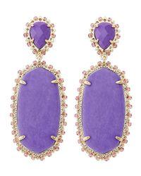 Kendra Scott | Purple Parsons Clip-on Earrings | Lyst