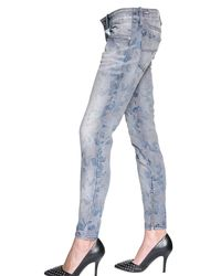 DIESEL | Blue Star Jacquard Stretch Denim Jeans | Lyst