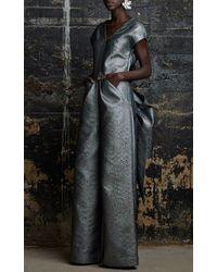 Rosie Assoulin | Metallic Swarovkski Crystal Adorned Single Flower Earring | Lyst