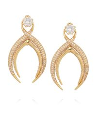 Noir Jewelry | Metallic Gold-tone Cubic Zirconia Earrings | Lyst