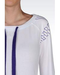 EA7 - White Crewneck Sweatshirt - Lyst