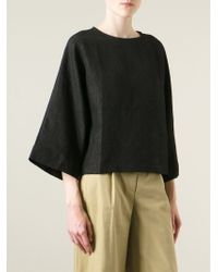 Societe Anonyme - Black Embroidered Boxy Blouse - Lyst