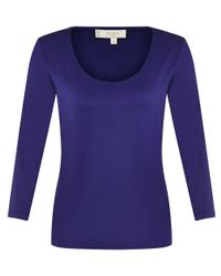 Hobbs - Purple Sophie Top - Lyst