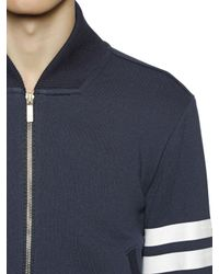 Thom Browne - Blue Striped Zip-up Cotton Sweatshirt for Men - Lyst
