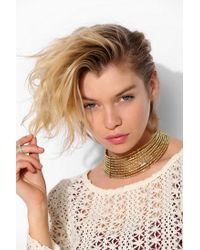 Urban Outfitters - Metallic Beaded Choker Necklace - Lyst