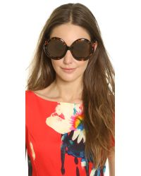 Preen By Thornton Bregazzi   Brown Eltham Sunglasses   Lyst