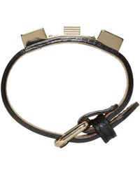 Proenza Schouler - Black Ps11 Leather Bracelet for Men - Lyst