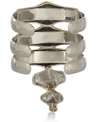 Noir Jewelry - Metallic Gold and Silver Tone Cuff - Lyst
