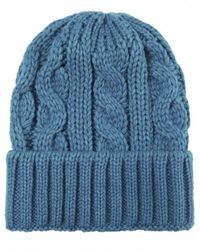 Jules B - Blue Cable Knit Wool Hat for Men - Lyst