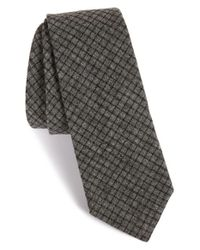 W.r.k. | Black Check Cotton Tie for Men | Lyst
