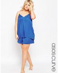ASOS | Blue Cami & Short Pj Set | Lyst