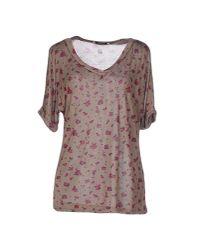 Liu Jo   Natural T-shirt   Lyst