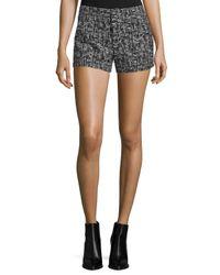 Alice + Olivia | Black Kristie Slim-fit Tweed Shorts | Lyst