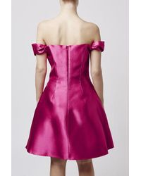 TOPSHOP - Pink Shiny Twist Dress By Boutique - Lyst