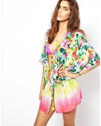 Seafolly | Multicolor Summer Garden Eden Kaftan | Lyst