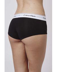 TOPSHOP | Modern Cotton Black Shorts By Calvin Klein | Lyst