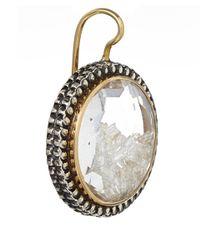 Moritz Glik - Metallic White Sapphireencased Diamonds Round Earrings - Lyst