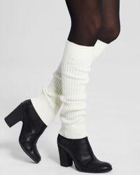 Hue | White Super Long Ribbed Legwarmers | Lyst