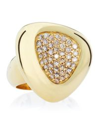 Roberto Coin | Metallic Capri Plus Diamond Ring Cognac Size 65 | Lyst