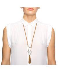 Lulu Frost | Metallic Elizabeth Tassel Necklace | Lyst