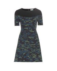 KENZO - Blue Printed Sheath Dress - Lyst