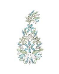BCBGMAXAZRIA   Blue Floral Statement Earrings   Lyst
