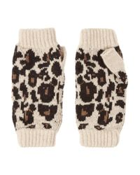 Rosie Sugden | Multicolor Cashmere Leopard-print Fingerless Gloves | Lyst