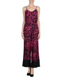 MICHAEL Michael Kors | Pink Printed Crepe Jumpsuit | Lyst
