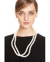 Stella McCartney | Double Strand Faux Pearl Necklace - Pure White | Lyst
