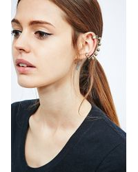 Urban Outfitters - Metallic Ball Ear Cuff in Gold - Lyst