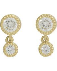 Tate - Yellow Diamond Double-drop Earrings - Lyst