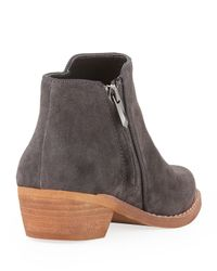 Sam Edelman - Gray Mercer Suede Ankle Boot Navy - Lyst