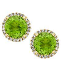 Kiki McDonough - Grace Green Peridot & Diamond Stud Earrings - Lyst