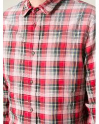 DSquared² - Red Check Shirt for Men - Lyst
