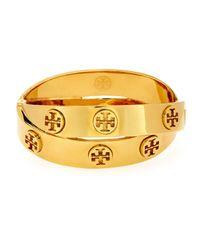 Tory Burch - Metallic Metal Logo Double-wrap Bracelet - Lyst