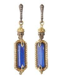 Armenta - Blue Skull-Top Lapis-Drop Earrings - Lyst