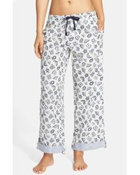 Jane & Bleecker New York | Gray Printed Drawstring Lounge Pants | Lyst