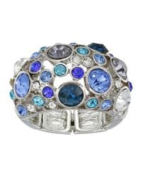 Guess | Blue Clustered Stone Dome Ring | Lyst