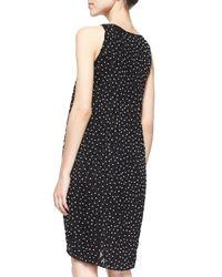 Oscar de la Renta - Black Bead-Embellished Shift Dress - Lyst