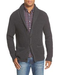 Bonobos | Gray Shawl Cardigan for Men | Lyst