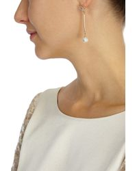 Coast - Metallic Droplet Pearl Earring - Lyst