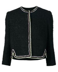 Giambattista Valli - Black Silk-Trimmed Tweed Jacket  - Lyst