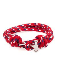 Ted Baker - Red Rope And Metal Bracelet for Men - Lyst