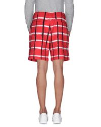 KENZO - Red Bermuda Shorts for Men - Lyst