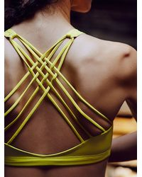 Free People - Green Solid Chic Bra - Lyst