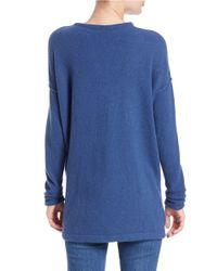 Free People | Blue Long-sleeve V-neck Sweater | Lyst