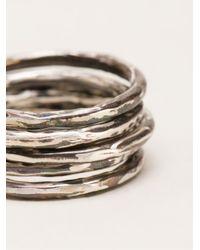 Henson   Metallic Ring Set   Lyst