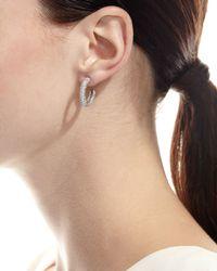 Gurhan   Metallic Galahad Diamond Oval Hoop Earrings   Lyst
